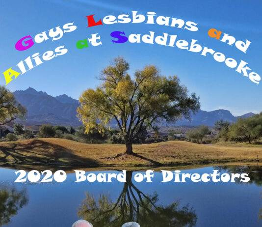 GLAAS - Gays Lesbians and Allies at SaddleBrooke AZ - 2020 Board of Directors