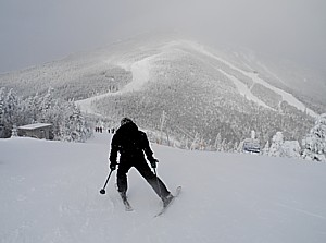 Feel like an Olympian as you ski down Whiteface Mountain, in New York's Adirondacks, where winter Olympics of 1932 and 1980 were held © 2013 Karen Rubin/news-photos-features.com