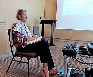 Canyon Ranch Medical Director Dr Karen Koffler leads a weekly conversation in Women's Well Being © 2015 Karen Rubin/news-photos-features.com.