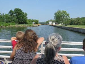 Approaching Lock 18 on the Erie Canal, on the cruise from Gems Along the Mohawk © 2015 Karen Rubin/news-photos-features.com