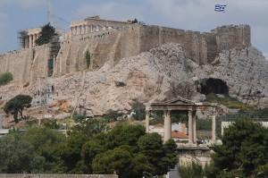 View of Acropolis through Hadrian's Gate, once the entrance to Athens. © 2015 Karen Rubin/news-photos-features.com