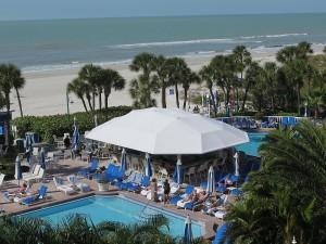 A view of the Loews Don CeSar pool and grounds © 2016 Karen Rubin/news-photos-features.com