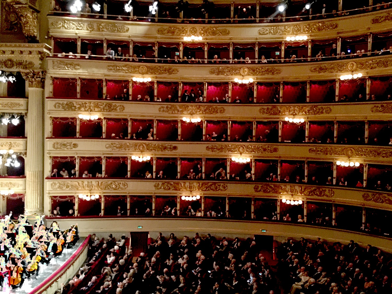 Seeing a performance at the famed La Scala theater in Milan, Italy, is a grand experience that transports you back to the Belle Epoque. Designed by Giuseppe Piermarini, the theater opened in 1778 (photo by Leiberman-Nemett)