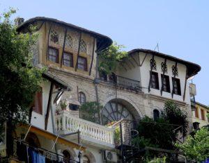 Historic Gjirokaster's distinctive architecture © 2016 Karen Rubin/goingplacesfarandnear.com