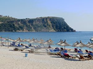 Himare, a Communist-era fishing village is an emerging beach town on Albania's Ionian seacoast © 2016 Karen Rubin/goingplacesfarandnear.com