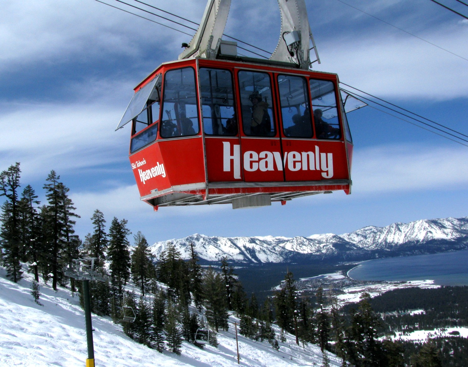 The Heavenly gondola with views to Lake Tahoe. Vail Resorts is assuming management of Zalanta Resort at the Village, a new luxury condominium property, South Lake Tahoe's first whole-ownership luxury condominium development in more than 30 years, steps from the Heavenly Mountain Gondola © 2016 Karen Rubin/goingplacesfarandnear.com