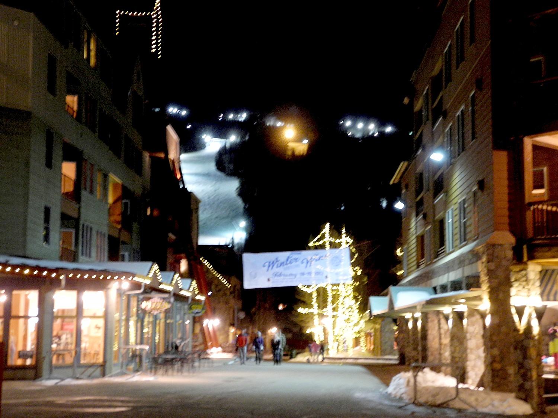 Keystone Mountain Resort offers night skiing and a charming village at the base © 2016 Karen Rubin/goingplacesfarandnear.com