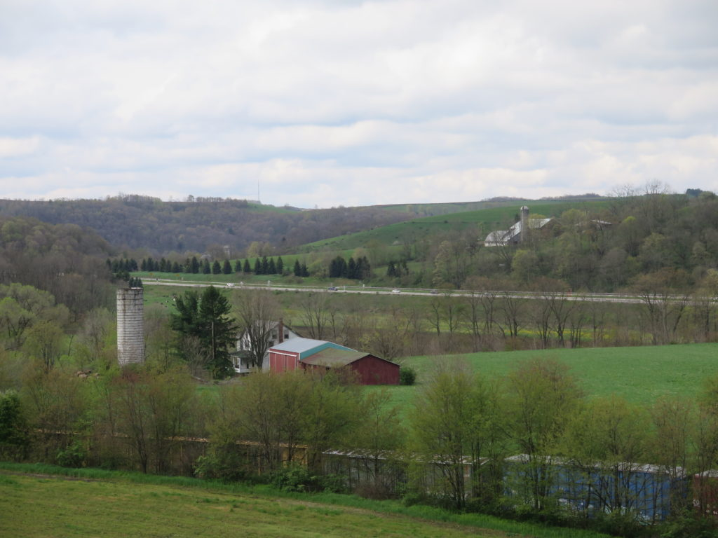 Countryside just passed the Salisbury Viaduct on the Great Allegheny Passage outside Meyersdale © 2016 Karen Rubin/goingplacesfarandnear.com