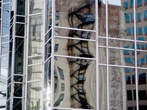 Old reflected in new in Pittsburgh © 2016 Karen Rubin/goingplacesfarandnear.com