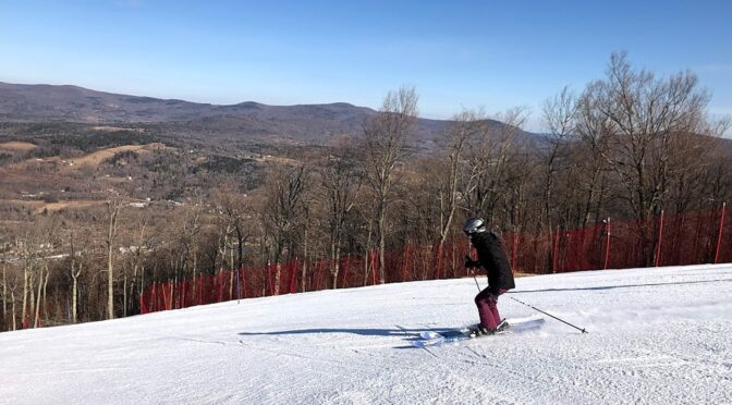 A Bluebird Day of Spring Skiing at Windham Mountain