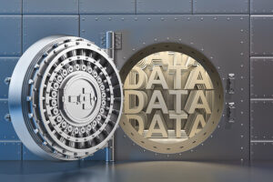 Graphical depiction of data secure in physical vault