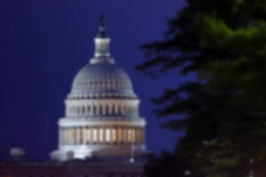 blurred photo of US Capitol Building