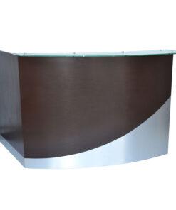 Wave Round Reception Desk (front)