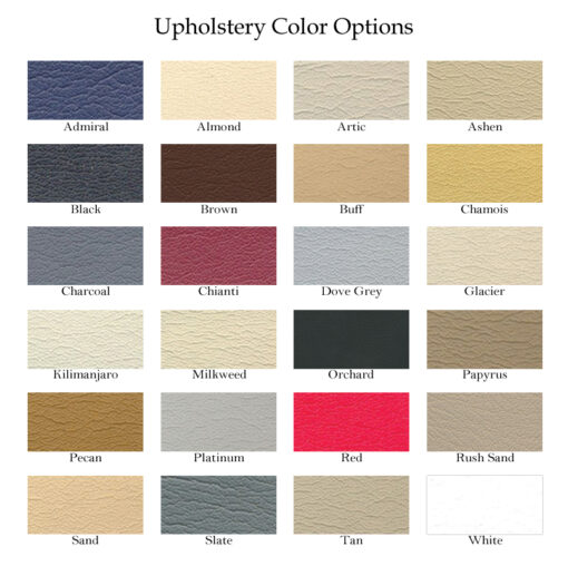 Edge DLX Upholstery Colors Options