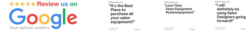 hair salon wall stations