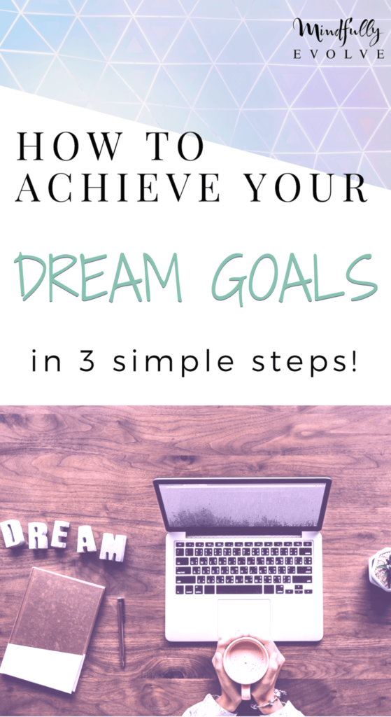 This is a 3-step winning formula to get you moving towards making your dream goals a reality! If you use this system every single day you will be amazed at how the pieces to your dreams start to appear. It takes faith, self- reflection, consistency, and action to produce results. #goals #motivation