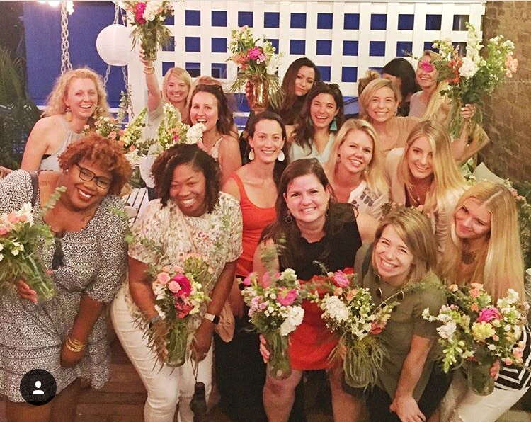 We had a blast supporting the LLS Foundation, making flower arrangements with Fetes de Fleures and drinking Rose and Skinny Dip Charleston!