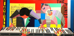 Acrylic on Canvas - The Pianist - 48x24 - Calla PVT Collection