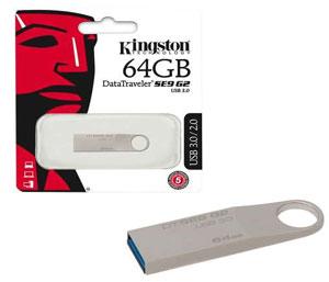 Kingston Data Traveler SE9 G2 USB 3.0 Flash Drive - 64GB