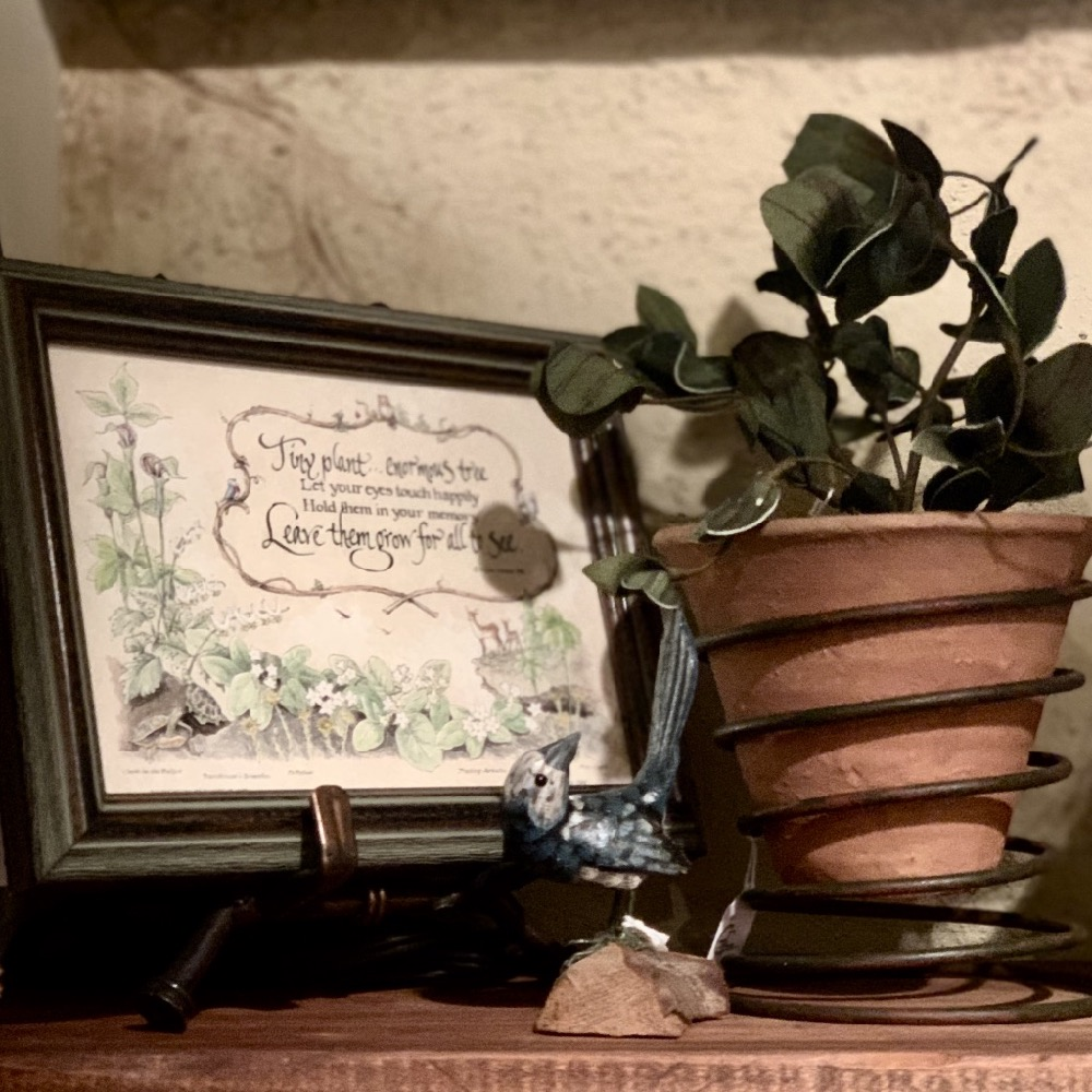 Picture Art Work Wall Decor and Plant Stand