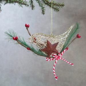 gold wire bird ornament side 2