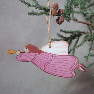 hand painted angel ornament