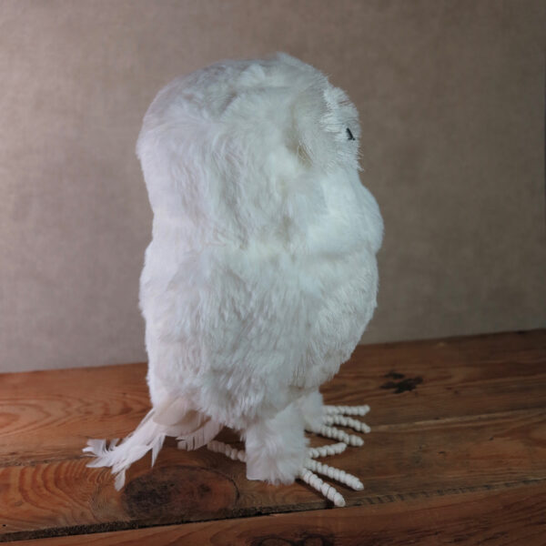 large snowy owl home decor winter side