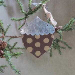 primitives by kathy acorn ornament polka dot