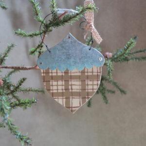 primitives by kathy acorn ornament plaid