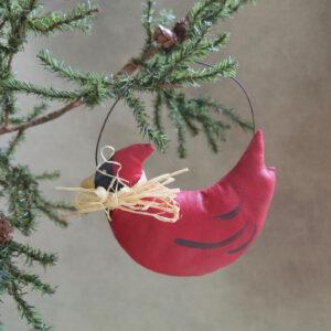 red cardinal bird ornament