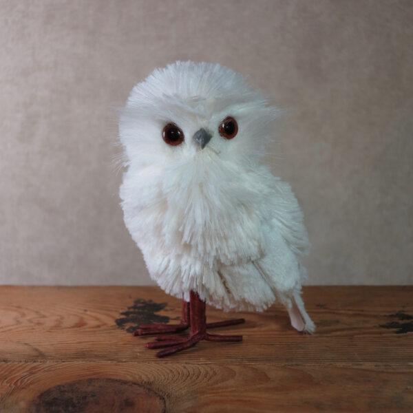 small snowy owl home decor winter