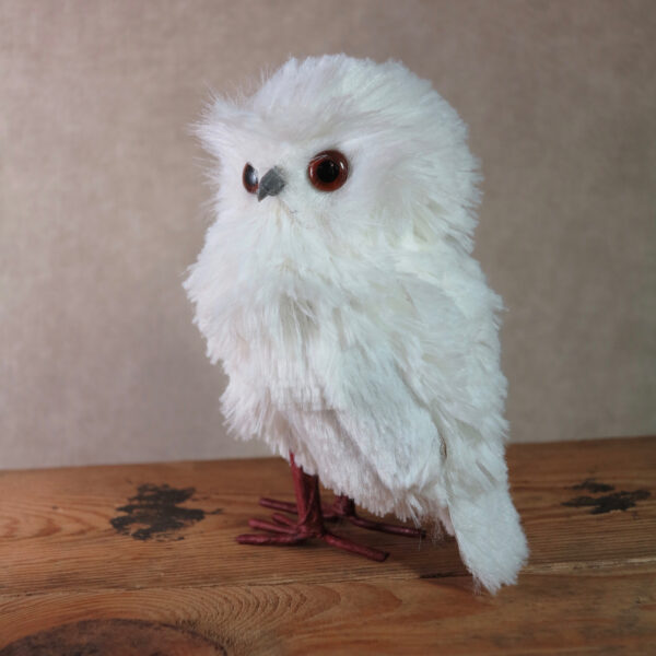 small snowy owl home decor winter side