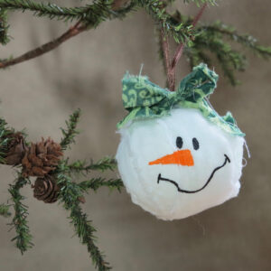 snowman snowball ornament large