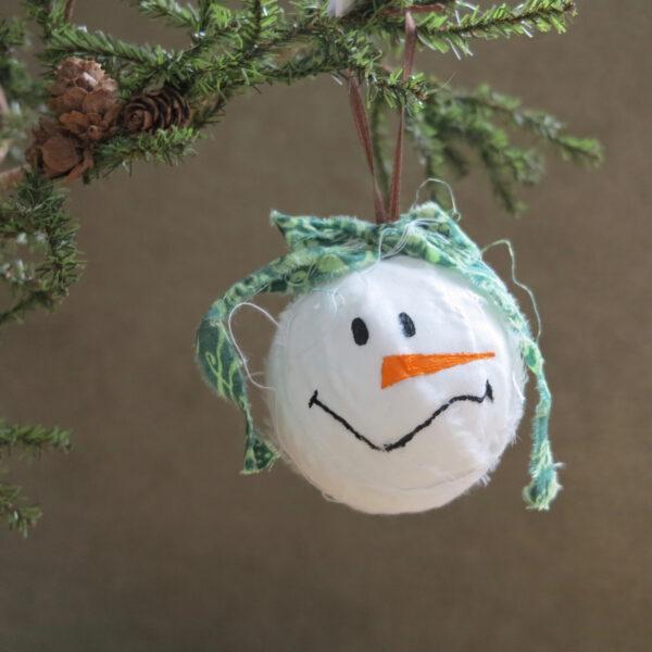 snowman snowball ornament small