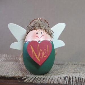 wood angel noel home decor christmas green
