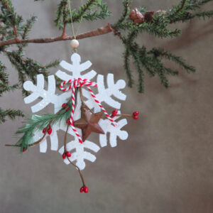 wood snowflake ornament by sarah binder