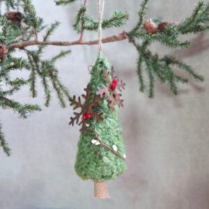 wool tree ornament by sarah binder