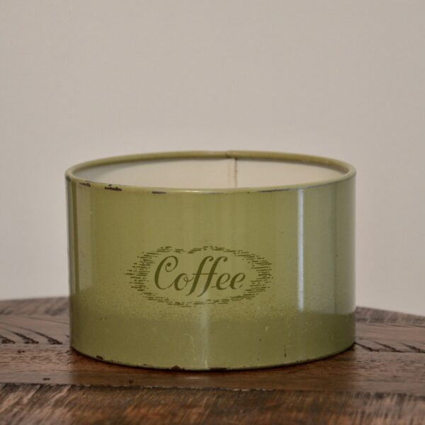 Green Coffee Tin Front