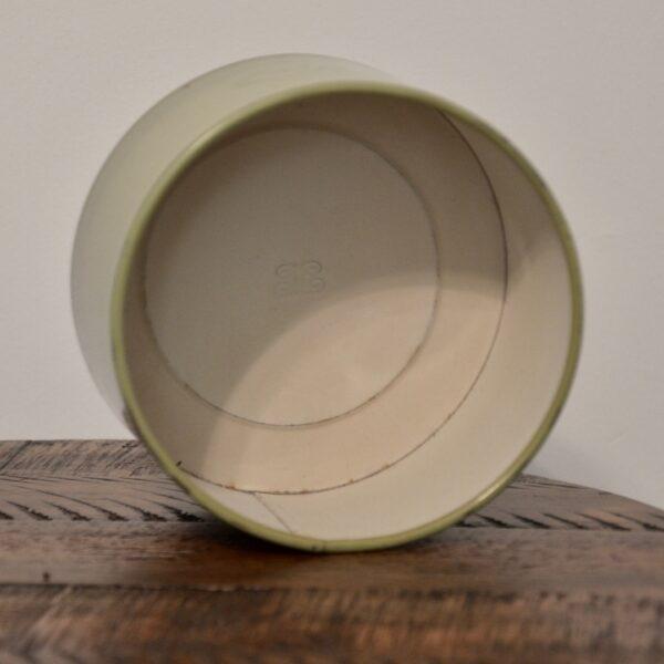 Green Coffee Tin Inside