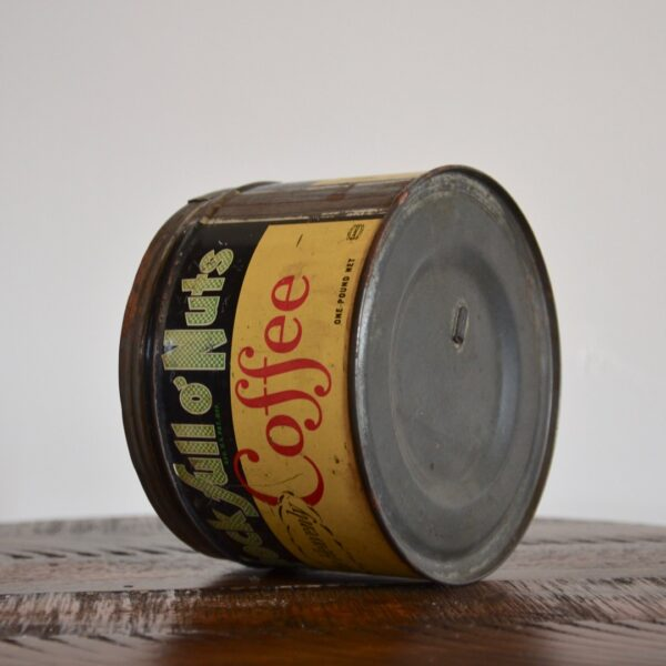 Vintage Chock Full O Nuts Coffee Tin Yellow Green Red Bottom