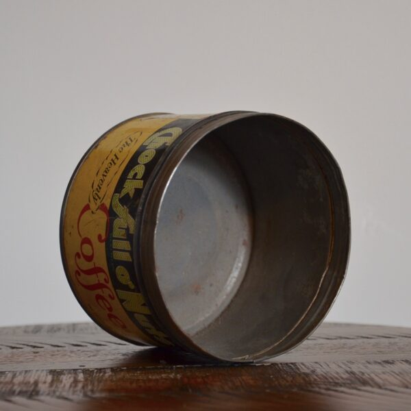 Vintage Chock Full O Nuts Coffee Tin Yellow Green Red Inside