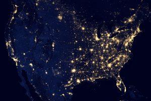 Nasa Map at Night