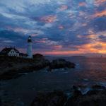 portland head light sunset