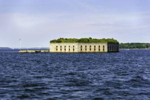 fort gorges | harbor tour portland maine