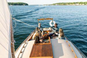 sailing the casco bay
