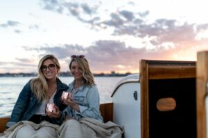 cocktails on sunset cruise