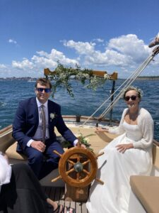 wedding on the eleanor hawkes   harbor cruise portland maine