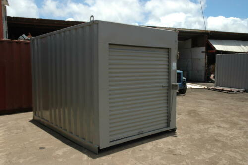 10' Used Refurbished Container with 6' Roll Up Door