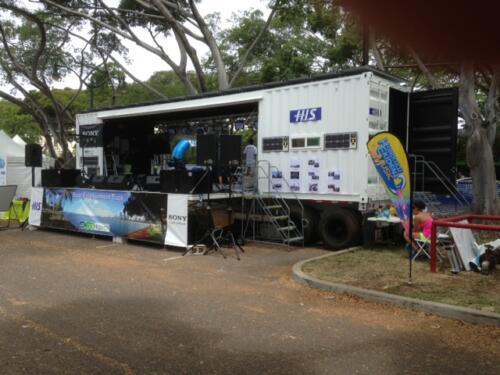 Custom Solar Powered Mobile Stage