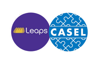 Leaps and CASEL logos